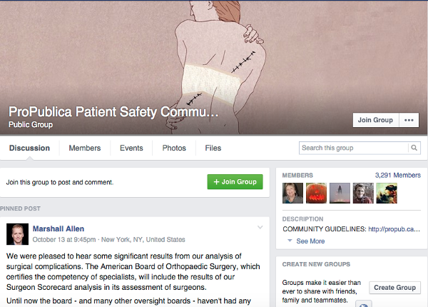 pro publica patient harm facebook