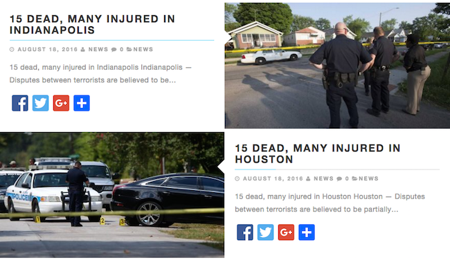 fake terror attack stories hoax