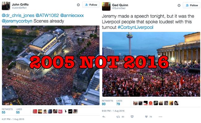 corbyn fake crowds