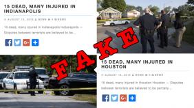 fake terror attack