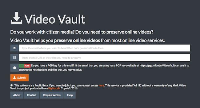 video vault submit