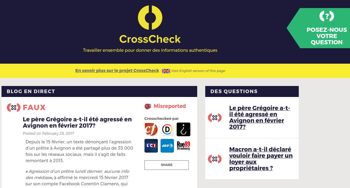 CrossCheck Verification Newsroom Begins