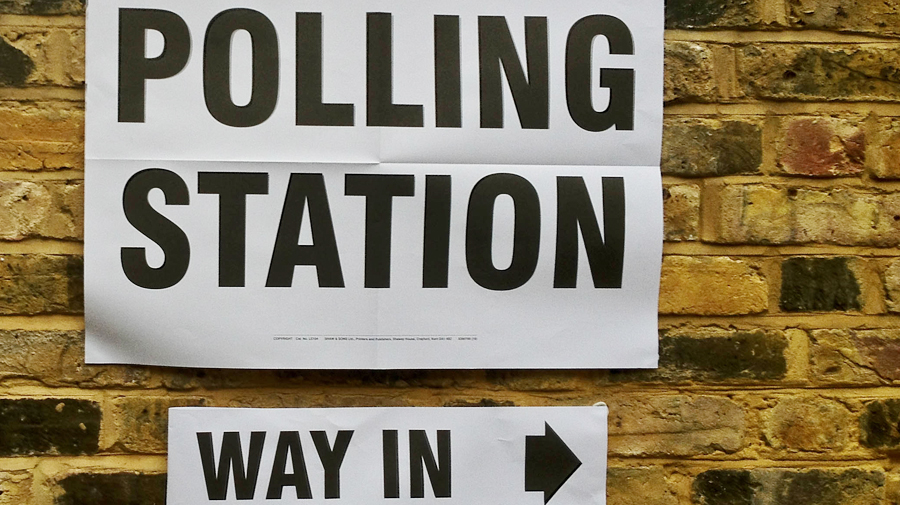 Polling station for the 2012 London mayoral elections.