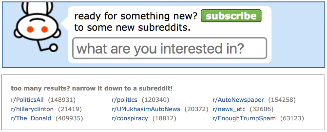 reddit search options