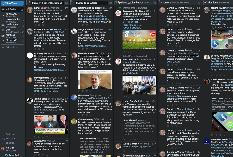 Screenshot Tweetdeck