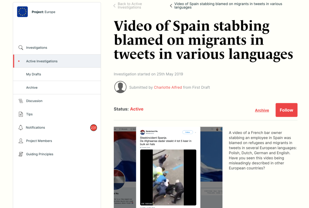 An investigation into a video that was suspected to be misleading on the CrossCheck Europe platform