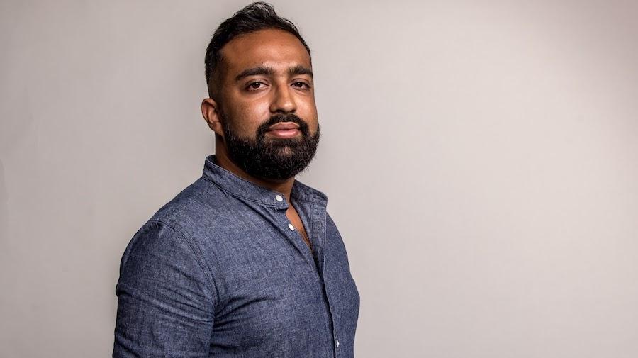 This is a side profile photo of Osman Faruqi