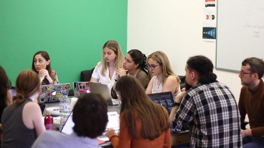 University students having verification training ahead of CrossCheck Europe