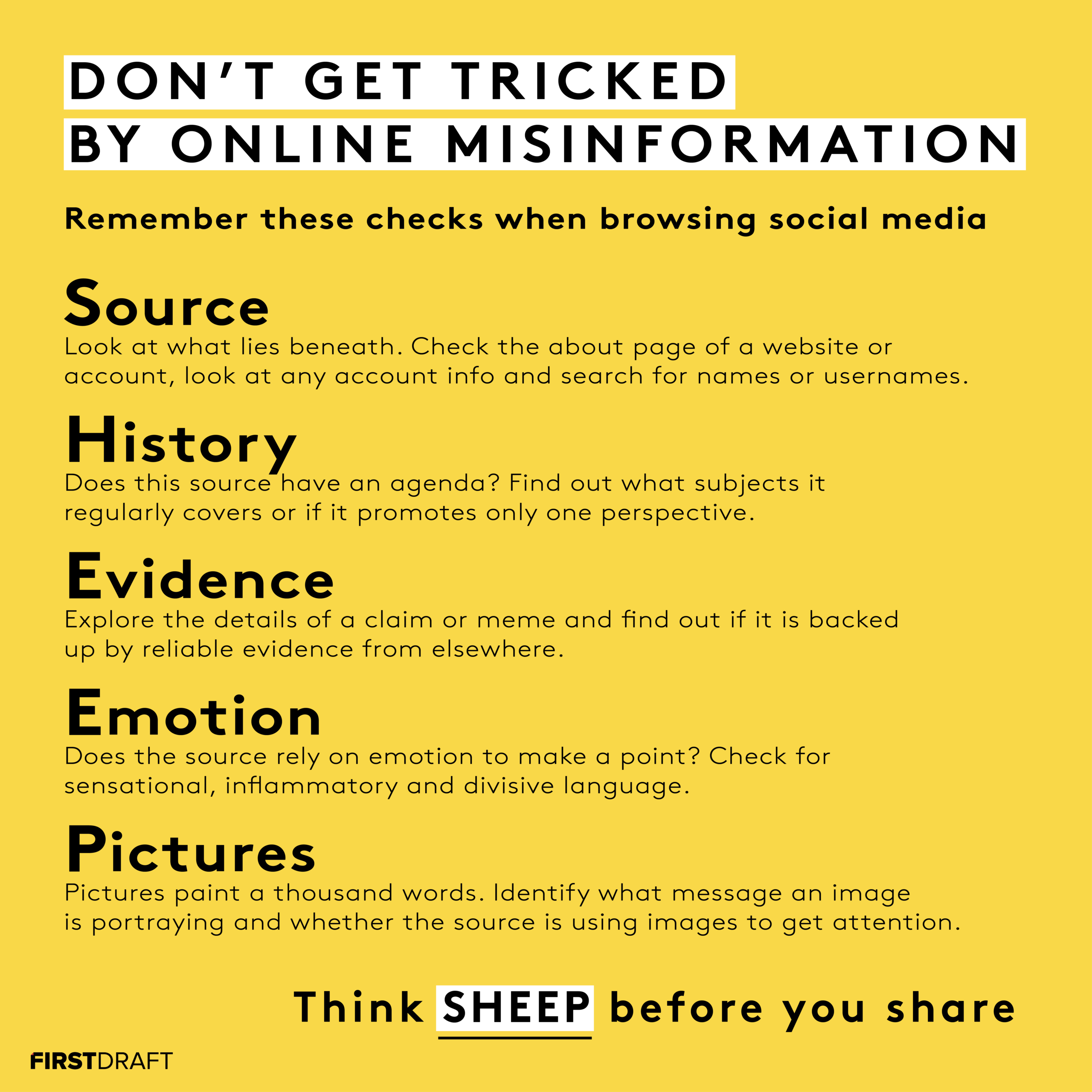 """First Draft News: Think """"Sheep"""", Before Posting Online"""