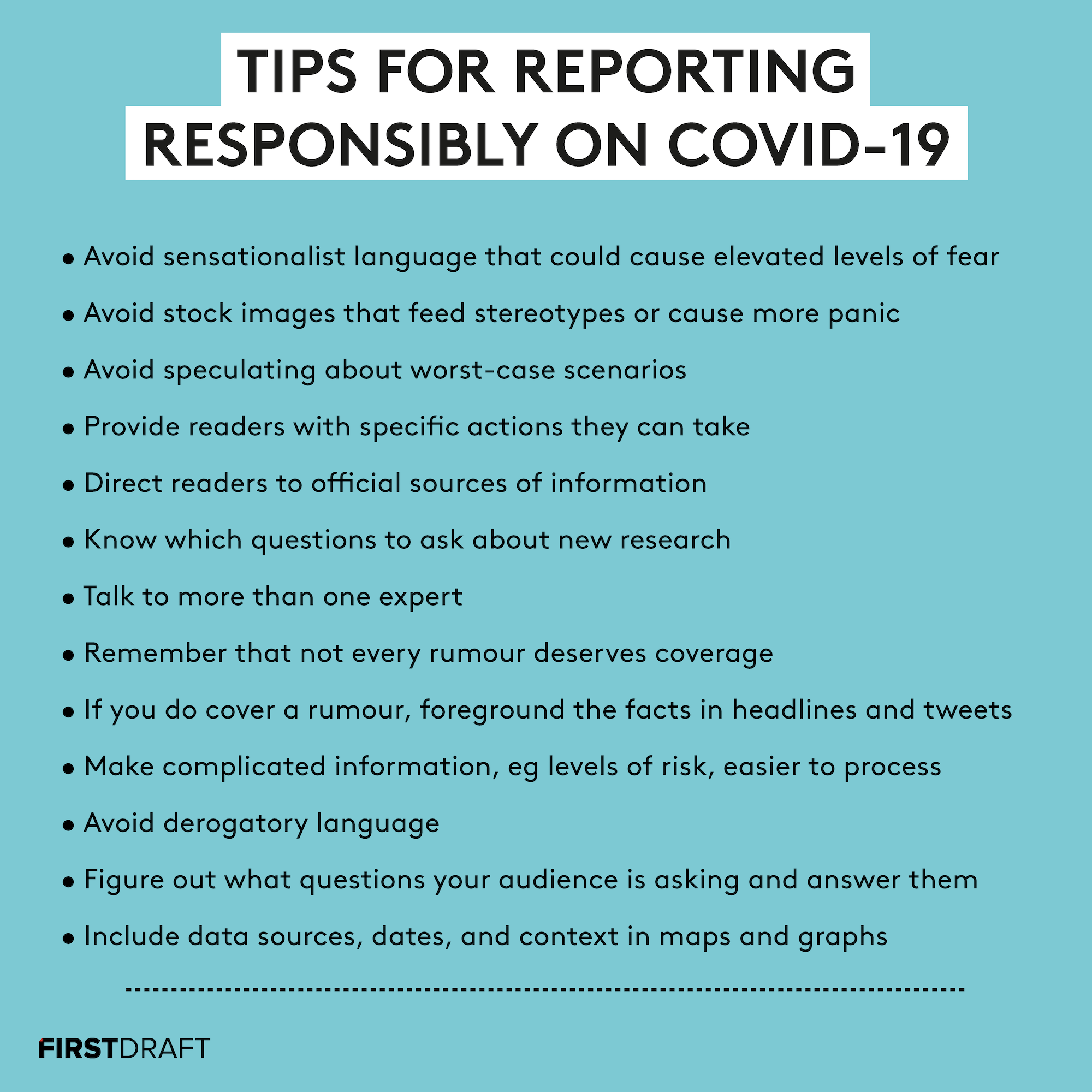 Tips For Reporting On Covid-19 And Slowing The Spread Of