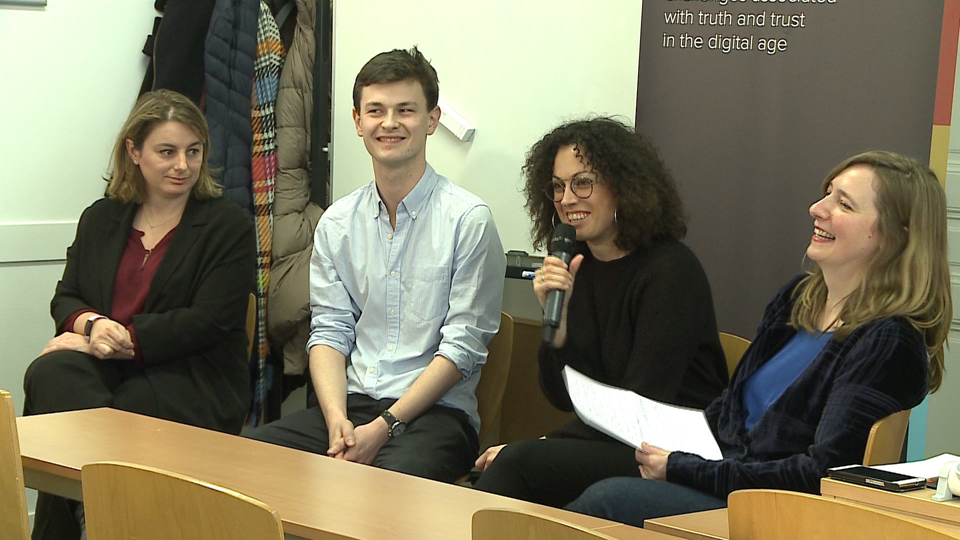 Panelists, Masterclass at Sciences Po Journalism School, March 6th, 2020