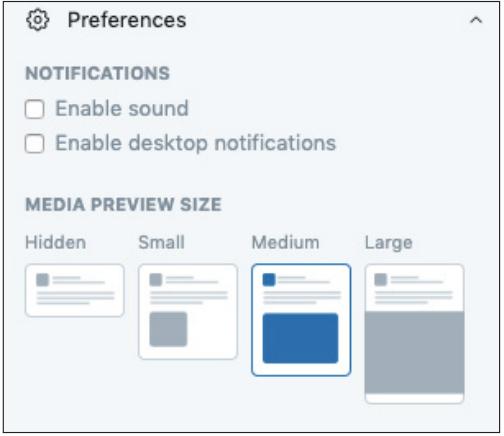 Screenshot of Twitter notification preference