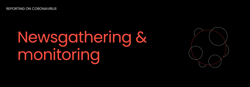 Newsgathering & monitoring graphic