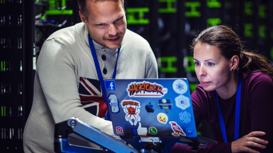 Facebook employees working at the Odense Data Center in Denmark
