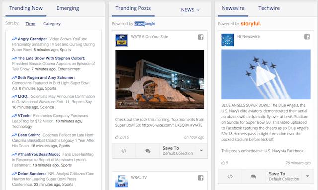 Capture d'écran de Signal, l'appli de Facebook